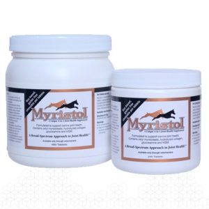 Myristol Canine promots joint and muscle health in larger breed dogs. Helps control arthritis.